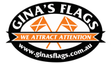 Ginas Flags Mobile Logo
